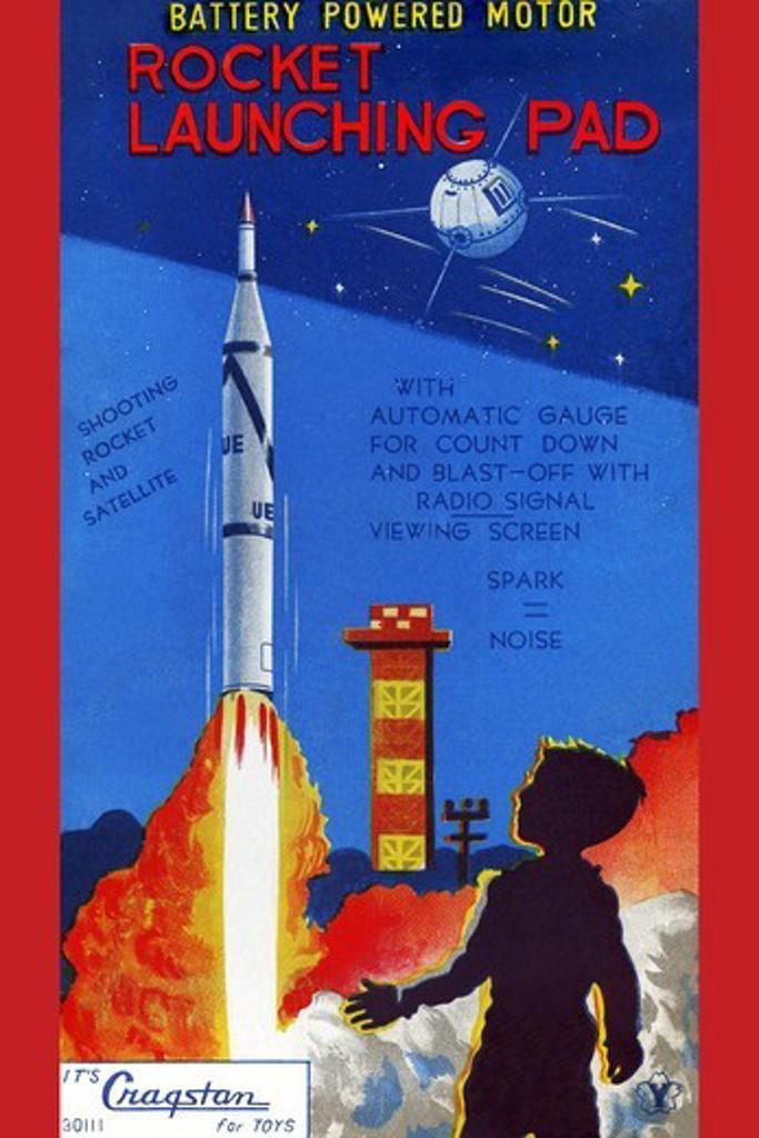 Stock Photo: 4408-14856 Rocket Launching Pad, Robots, ray guns & rocket ships
