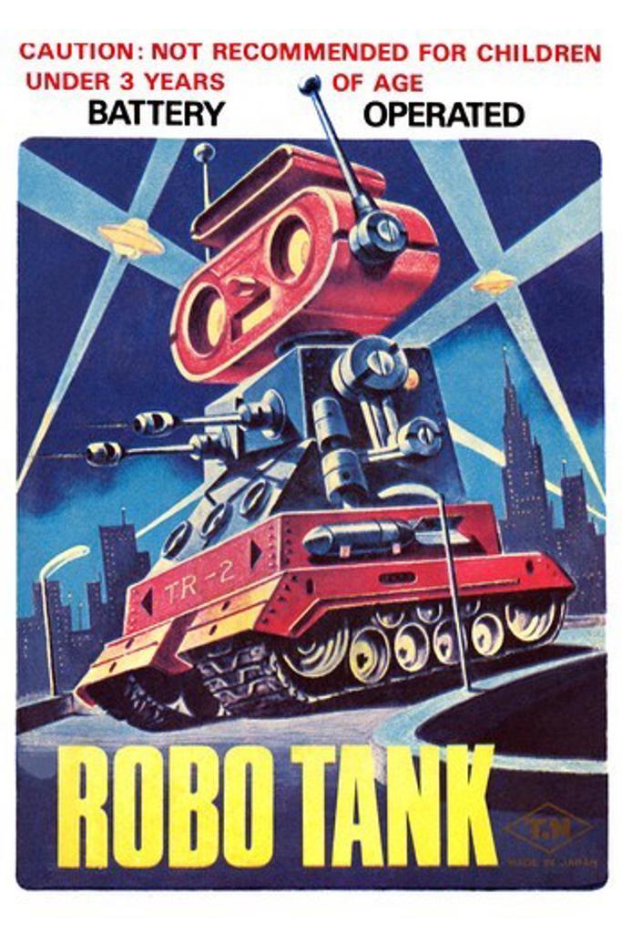 Stock Photo: 4408-14858 Robo Tank, Robots, ray guns & rocket ships