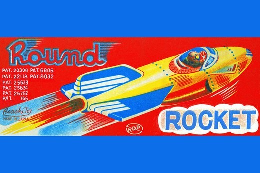 Round Rocket, Robots, ray guns & rocket ships : Stock Photo