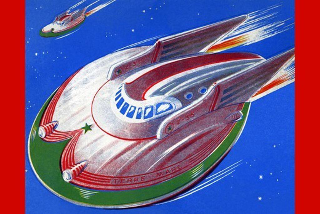 UFO, Robots, ray guns & rocket ships : Stock Photo