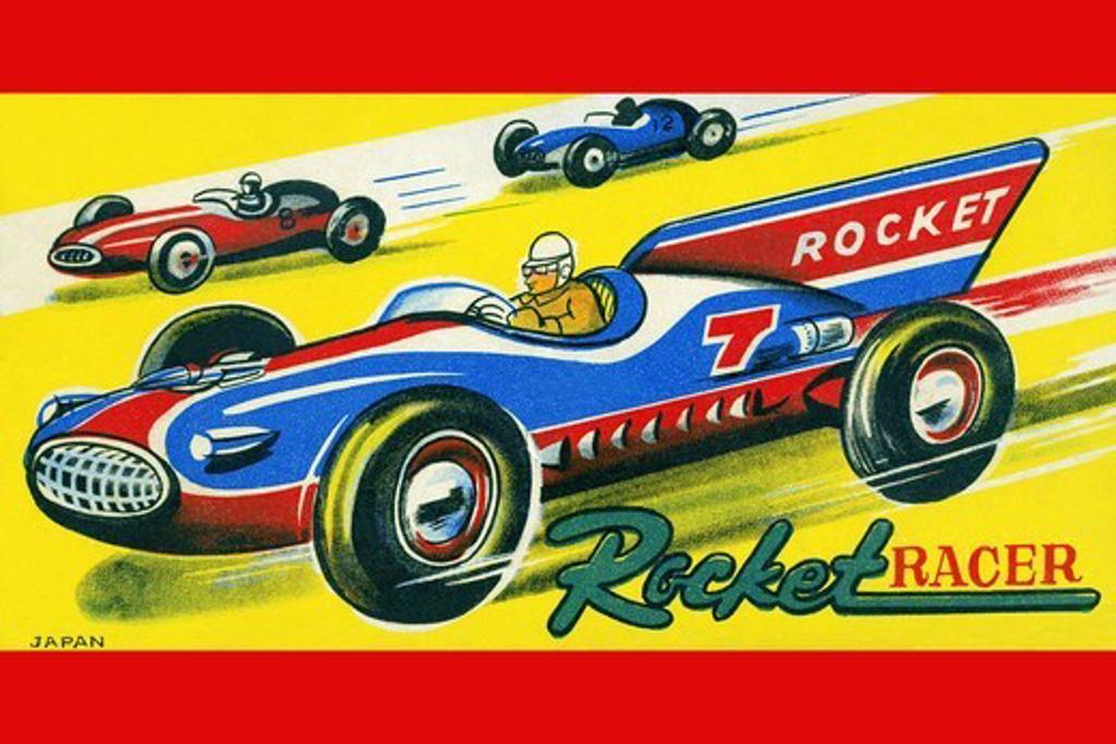 Stock Photo: 4408-14928 Rocket Racer, Vintage Toy Box Art