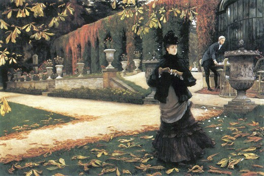 Stock Photo: 4408-15319 Letter came in handy by Tissot  , Fine Art