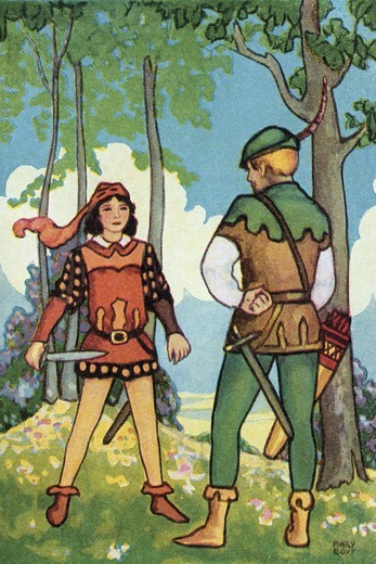 Stock Photo: 4408-15652 Maid Marian, Fictional Characters