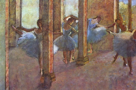 Stock Photo: 4408-15685 Dancers in the Foyer, Edgar Degas, Fine Art