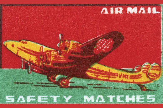 Stock Photo: 4408-15701 Air Mail Safety Matches, Aviation