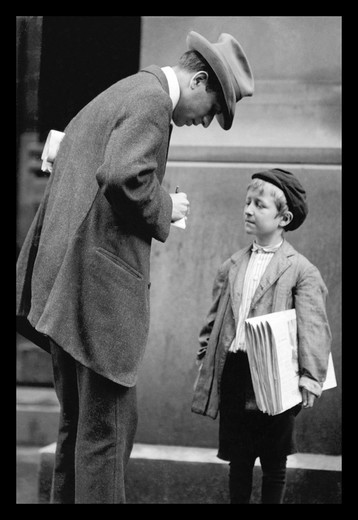 Stock Photo: 4408-1578 Michael McNelis, Newsboy, Age 8, Classic Photography