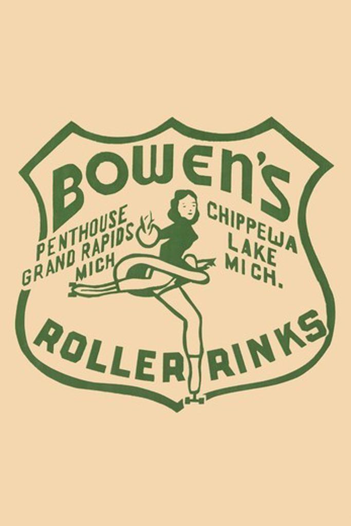 Bowen's Roller Rinks, Roller Skating : Stock Photo