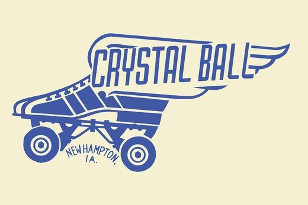 Crystal Ball, Roller Skating : Stock Photo