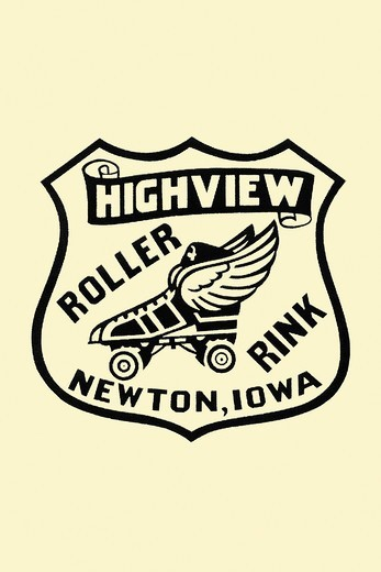 Stock Photo: 4408-16003 Highview Roller Rink, Roller Skating