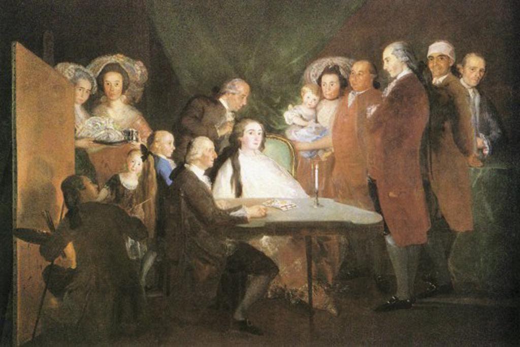 La famille de l infant Don Louis  , Fine Art : Stock Photo