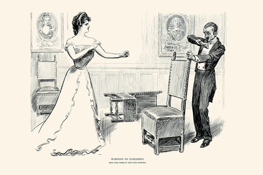 Stock Photo: 4408-16976 Warning to Noblemen, Charles Dana Gibson
