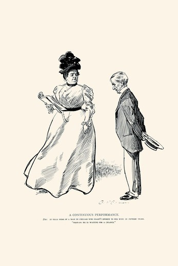 Stock Photo: 4408-16993 Continuous Performance, Charles Dana Gibson