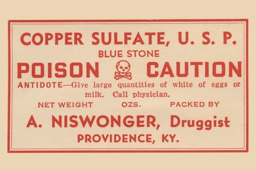 Stock Photo: 4408-17578 Copper Sulfate, Blue Stone, Medical - Potions, Medications, & Cures