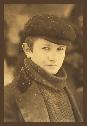 Stock Photo: 4408-1759 Head Newsboy, Classic Photography