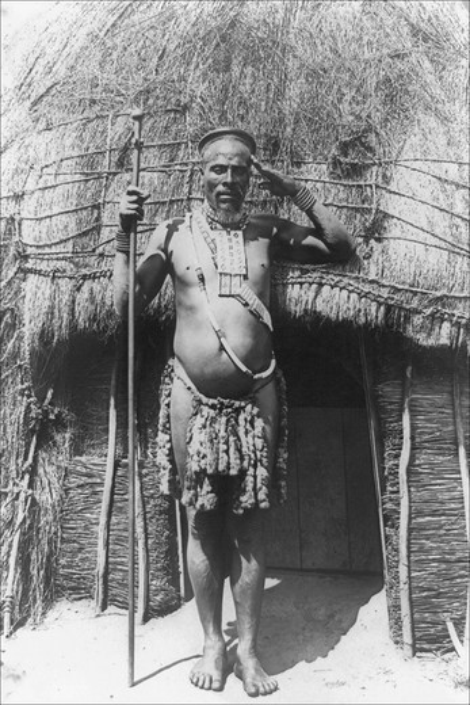 Stock Photo: 4408-1817 Zulu Chief, Classic Photography