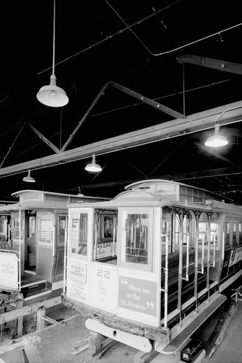 Stock Photo: 4408-1840 Cable Car Maintenance Bay, Classic Photography