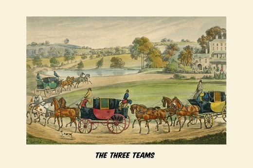 Stock Photo: 4408-18493 Three Teams, Life of a Sportsman