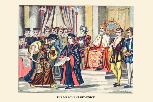 Stock Photo: 4408-18655 Merchant of Venice, Shakespeare