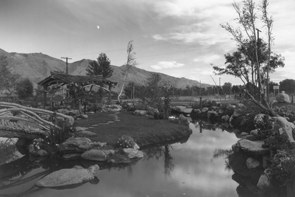 Pool in pleasure park, Ansel Adams : Stock Photo