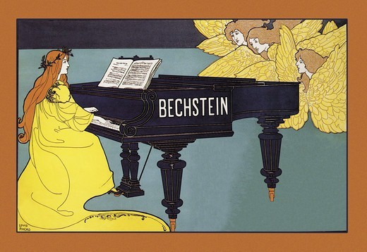 Stock Photo: 4408-2809 Bechstein - Hark the Angels, Piano, Harpsichord & Organ