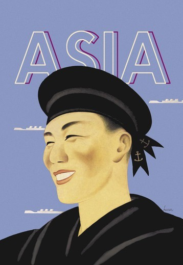 Stock Photo: 4408-2860 Japanese Sailor, Asia - Magazine Covers