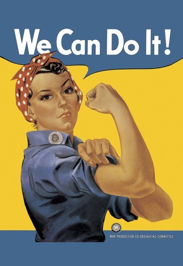 We Can Do It!, World War I : Stock Photo