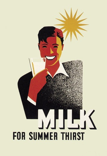 Stock Photo: 4408-3107 Milk for Summer Thirst, WPA