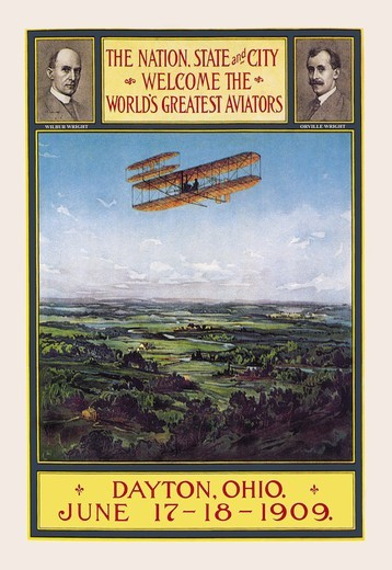 Stock Photo: 4408-3227 Dayton, Ohio Welcomes the Wright Brothers, Commercial Aviation