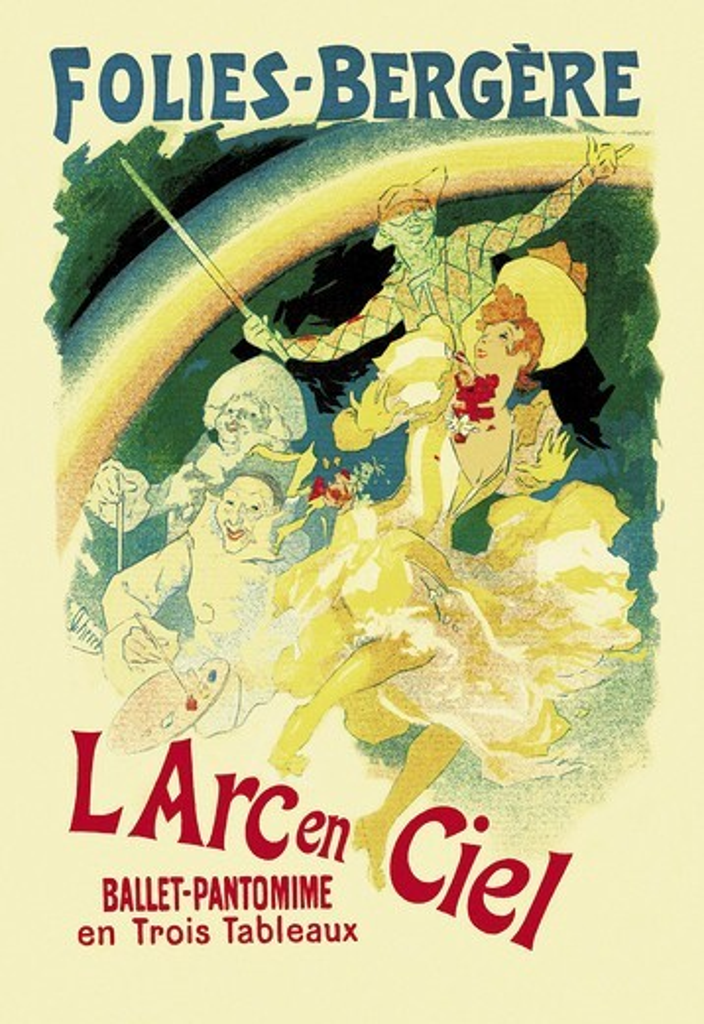Arc en Ciel: Folies-Bergere, Jules Cheret : Stock Photo