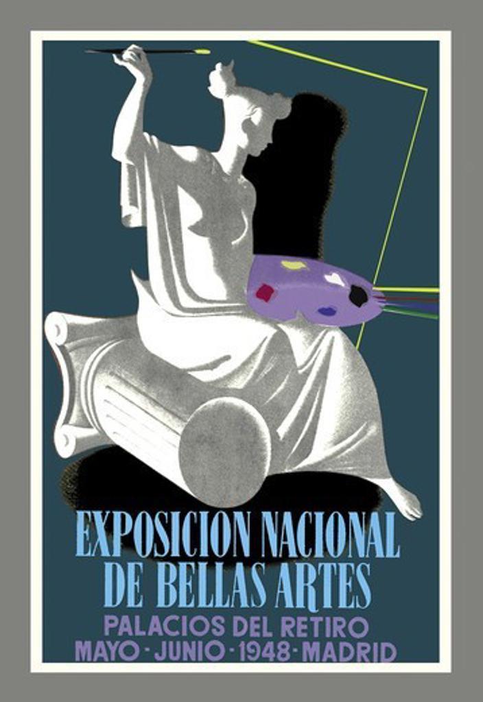 Stock Photo: 4408-3424 Exposicion Nacional de Bella Artes: Palacios del Retiro, Artist Palette