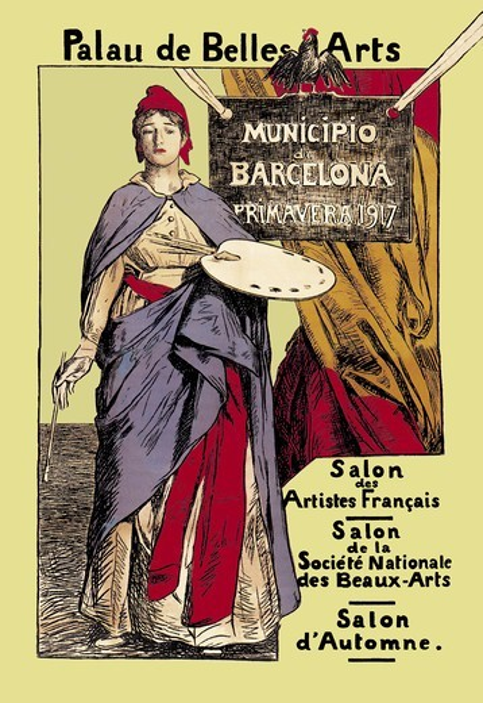 Stock Photo: 4408-3426 Palau de Belles Artes: Salon des Artistes Francais, Artist Palette