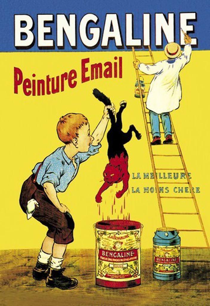 Stock Photo: 4408-3430 Bengaline: Peinture Email: La Meilleure, La Moins Chere, Oge