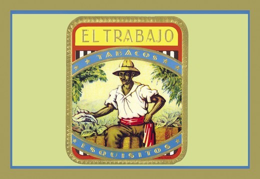 Stock Photo: 4408-3669 Trabajo - Tobacos Esquisitos, Cigar Labels