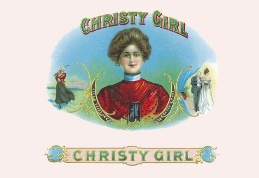 Stock Photo: 4408-3672 Christy Girl Cigars, Cigar Labels