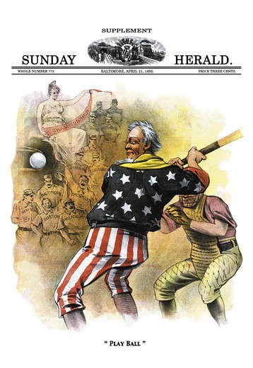 Sunday Herald Supplement: Play Ball, Baseball : Stock Photo
