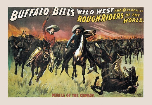 Buffalo Bill: Perils of the Cowboy, Buffalo Bill - Wild West : Stock Photo