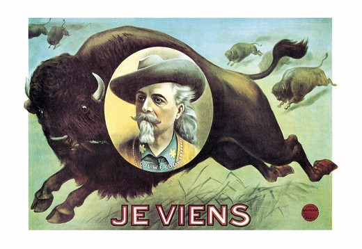 Stock Photo: 4408-4407 Buffalo Bill: Je Viens, Buffalo Bill - Wild West
