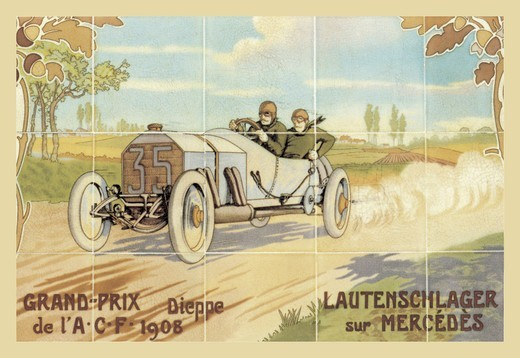Stock Photo: 4408-4449 Grand-Prix: Lautenschlager sur Mercedes, Auto Racing