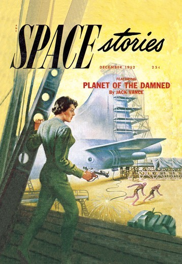Stock Photo: 4408-4456 Space Stories: Rocket Ship Sabotage, Pulp Magazine Covers