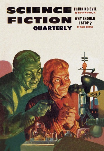 Stock Photo: 4408-4475 Science Fiction Quarterly: Diabolical Scheming, Pulp Magazine Covers