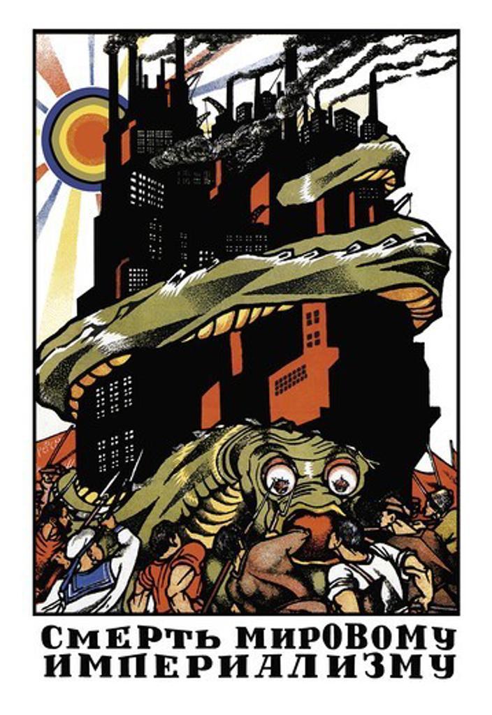 Stock Photo: 4408-4492 Kill The Imperialistic Monster, USSR - Bolshevik & Soviet