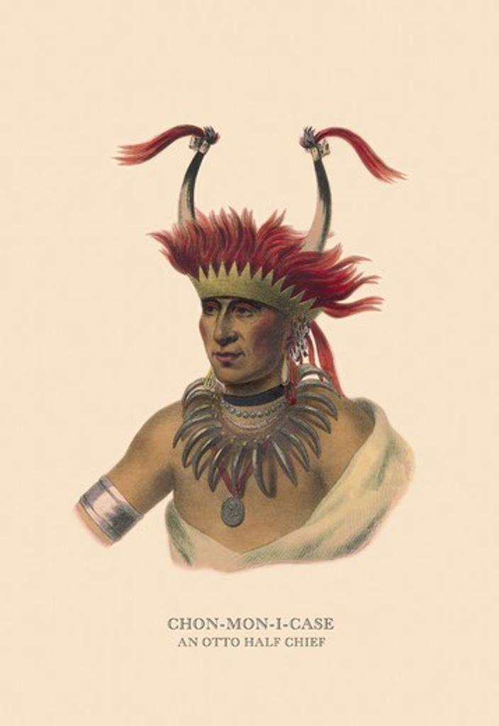 Stock Photo: 4408-5807 Chon-Mon-I-Case (An Otto Half Chief), Native American