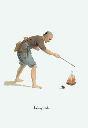 Frog-Catcher, China - Costumes & Occupations : Stock Photo