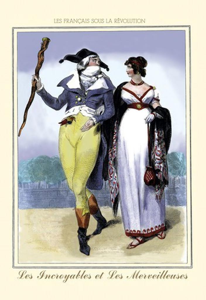 Stock Photo: 4408-6133 Incroyables et les Merveilleuses, French Revolution