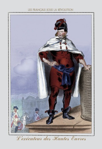 Executeur des Hautes Cuvres, French Revolution : Stock Photo