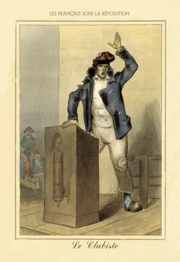 Stock Photo: 4408-6137 Clubiste, French Revolution