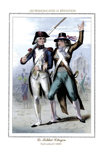 Stock Photo: 4408-6142 Soldat: Citoyen, French Revolution
