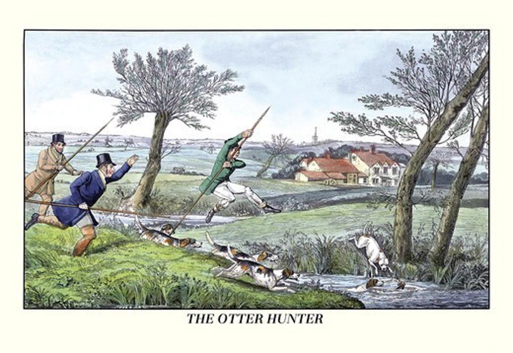 Stock Photo: 4408-6374 Otter Hunter, Dogs