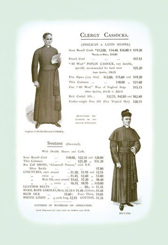 Clergy Cassocks, Clerical Vestments : Stock Photo