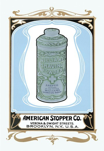 Williams Shaving Powder, Victorian Talcum Powder Tin Designs : Stock Photo